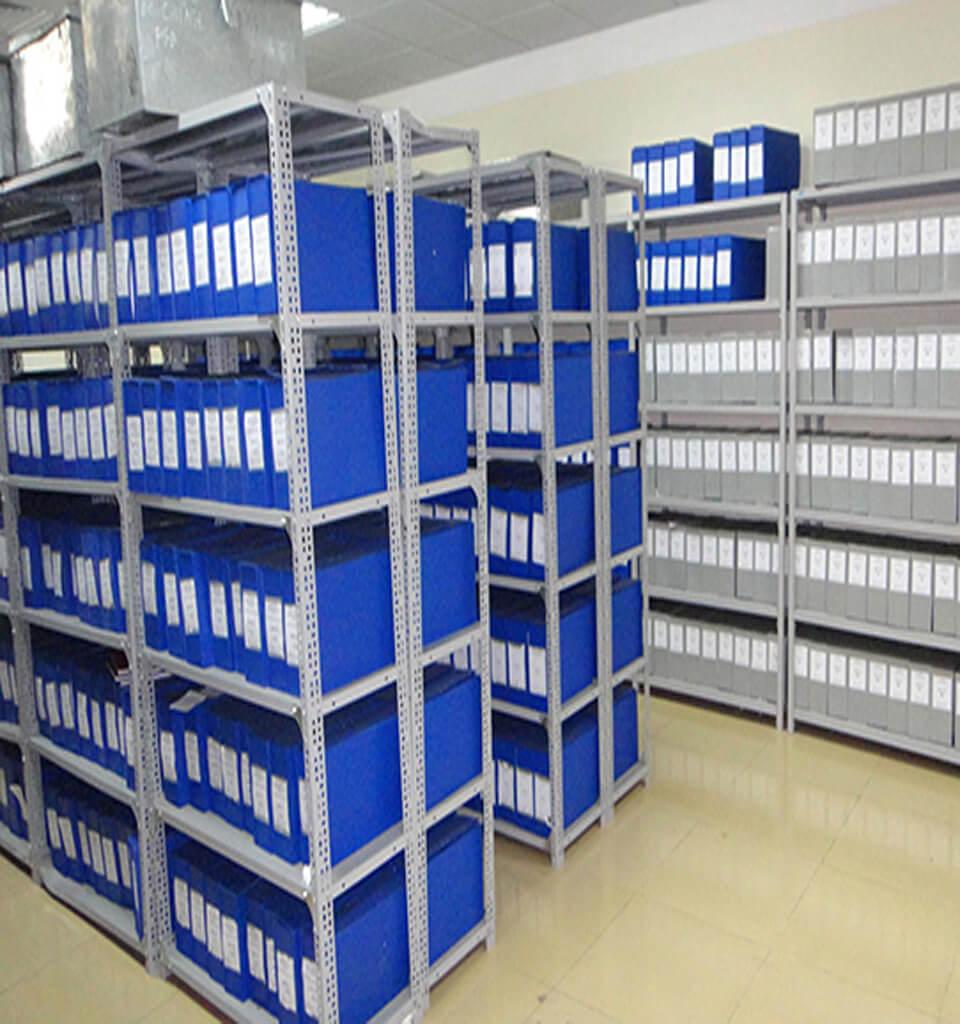 Kệ sắt chứa hồ sơ văn phòng